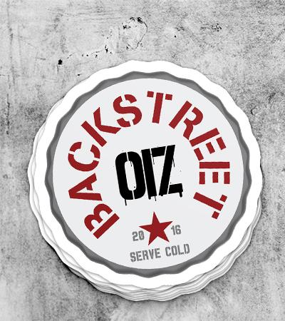 Identité graphique Backstreet OIZ par Laura Maschio