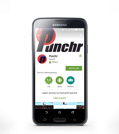 Logo Punchr (site d'actualité) par Laura Maschio