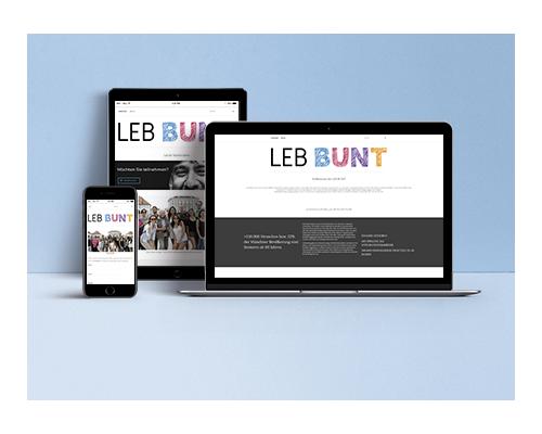 Site Internet Leb Bunt par Laura Maschio