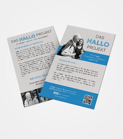 Flyers Das Hallo Projekt par Laura Maschio