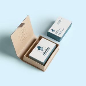 YouBuzz intégration logo - Cartes de visite